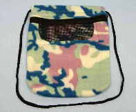 Window Pouch Blue Pink Camo